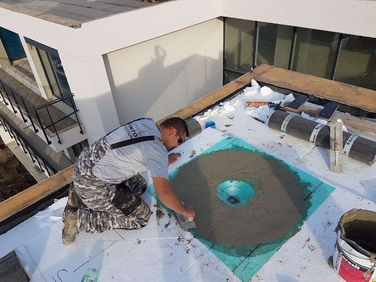 dachy płaskie użytkowe techniczne 27